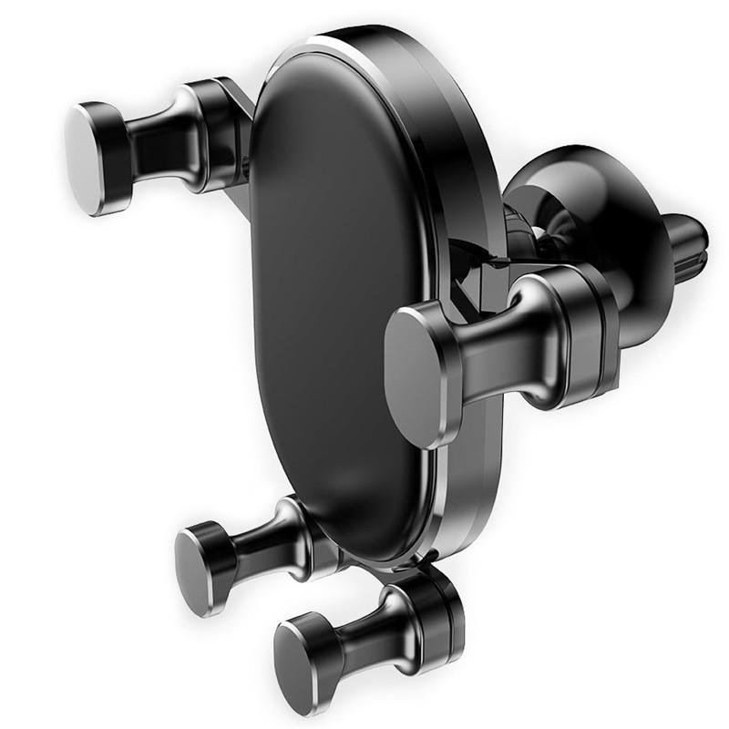 Soporte para coche Teléfono gravedad de sujeción automática de silicona brazo de amarre de aire del coche montaje de la salida del soporte para el iphone Samsung Celular Huawei universal