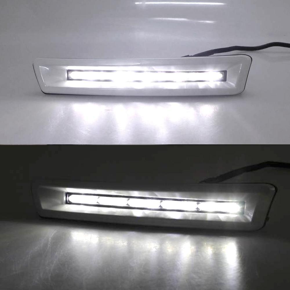 2011 2012 2013 2010 Cruiser 2700/4000 Toyota Prado FJ150 LC150 Land için Işık Koşu 2adet 12v ARAÇ LED DRL Gündüz