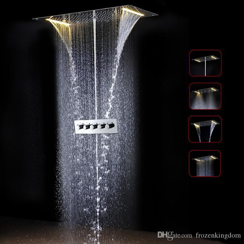 a06 increíble termostático de Baño Bañera grifo de la ducha 700 * 380 mm de baño LED del sensor de la válvula Conjunto de ducha 20180927 #