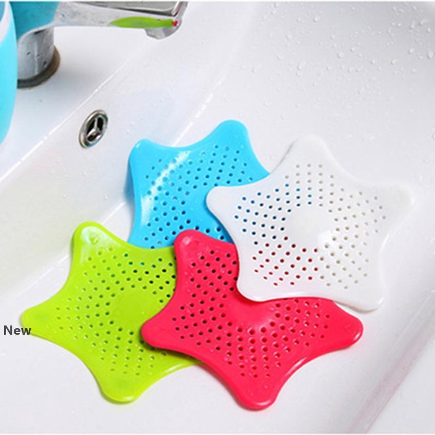Bathroom Star Hair Filter Sink Drain Stopper Anti-clogged Floor Sewer Outfall Hair Filter Colanders Strainer Supplies 120pcs IIA165