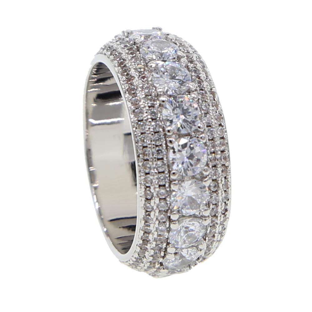 2019 Top quality stable silver color finger Rings For Women Small and big CZ Surround Fashion wedding Jewelry selling band ring
