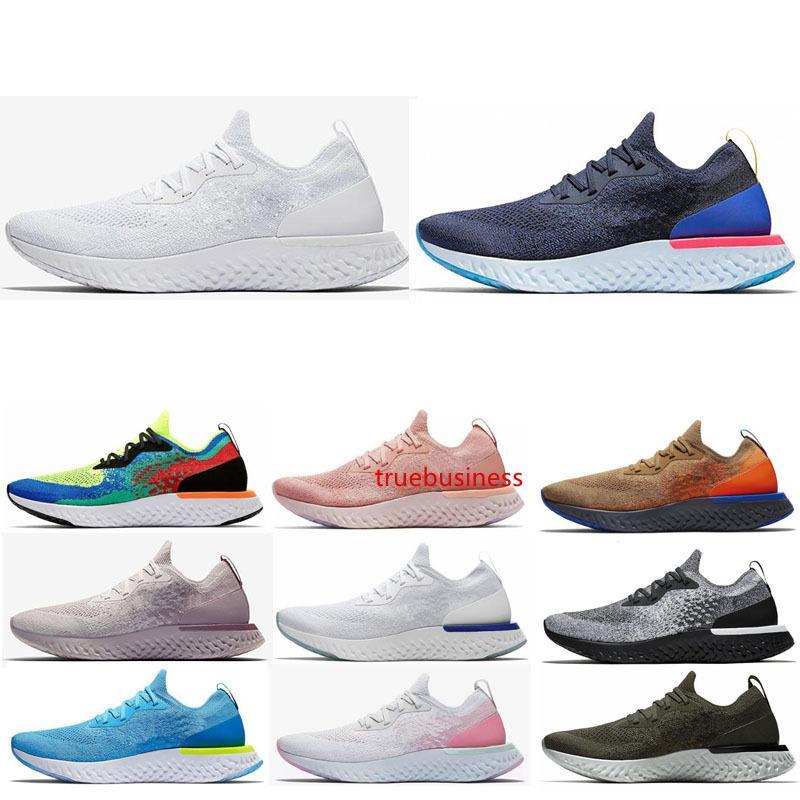 Reagir tricotar tênis para homens fulgor azul Mowabb todo preto mulheres brancas dos homens dos esportes da forma Sneakers Trainers 36-45