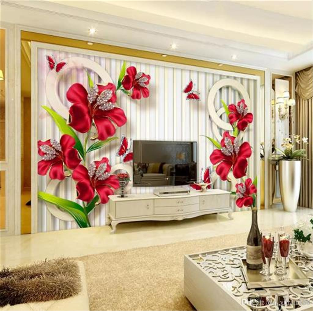 Floral Wallpaper For Walls New Exquisite Three Dimensional Jewelry