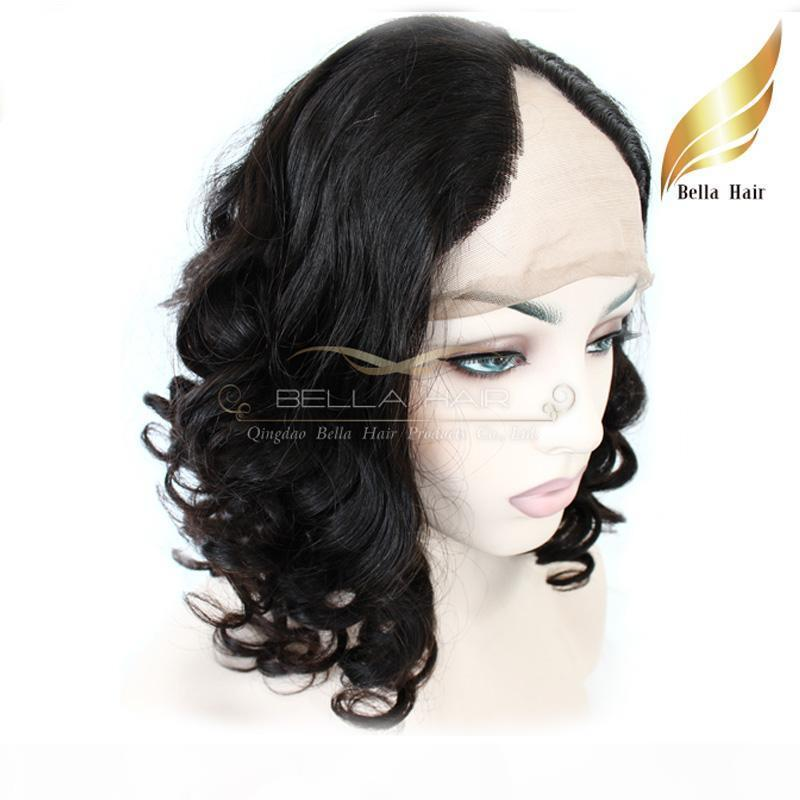 """Hotselling U Part Lace Front Wigs Virgin Indian Hair Wigs for Black Women Big Curly 12""""-24"""" Bellahair"""