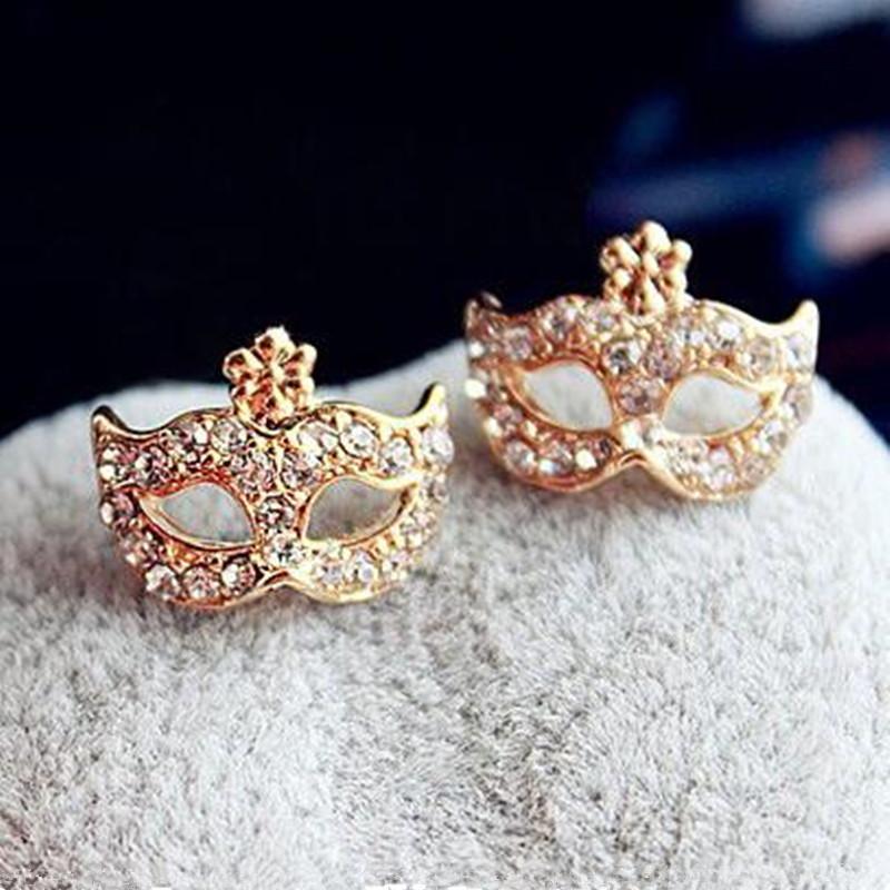 2019 New Fashion Bohemian Personality Cute Mask with Diamond Floret Mask Rings Anelli per le dita Regali per amiche