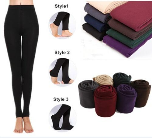 Wholesale Cheap Leggings For Women Arrival Casual Warm Winter Faux Velvet Legging Knitted Thick Slim Fit Leggings Elastic Woman leggings