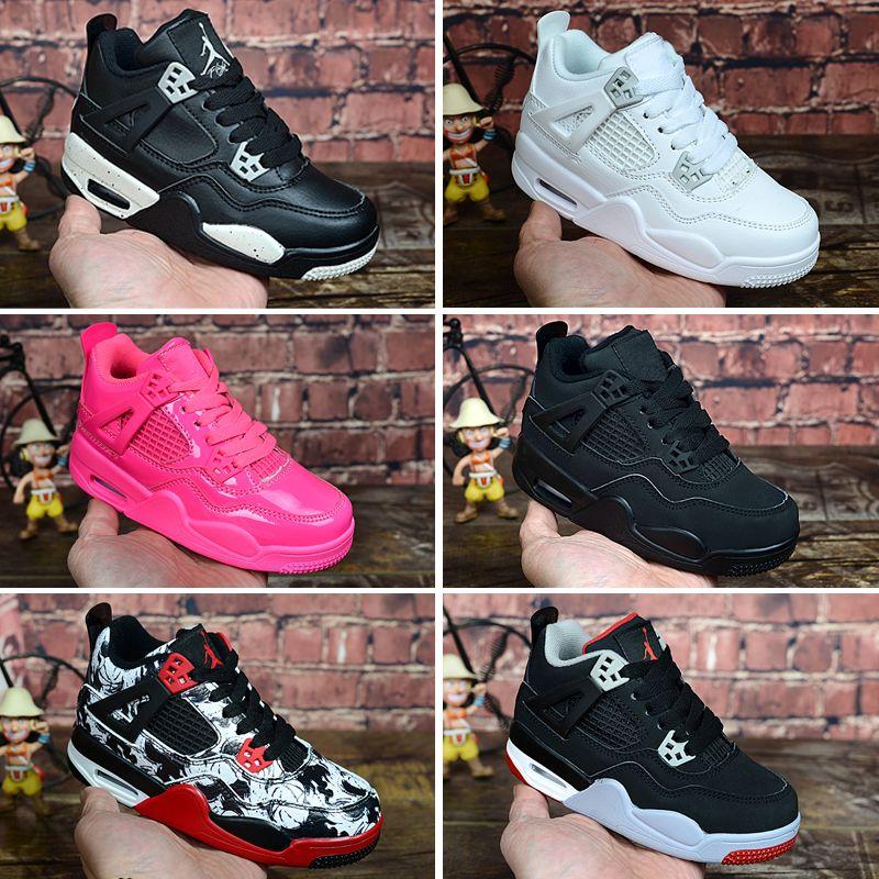 Nike air jordan 4 retro Çocuk Basketbol ayakkabı Erkek Kız 4 XIII Sneakers Gençlik HEDIYE Çocuk Spor Basketbol Sneakers Toddlers Ayakkabı boyutu 28-35
