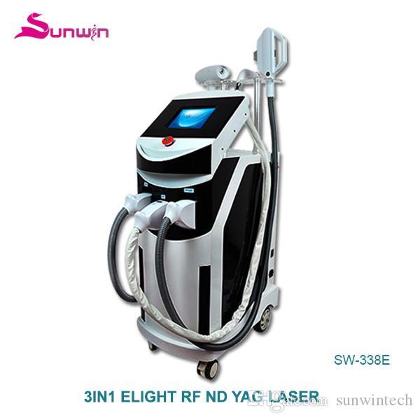 338E neues Produkt multifunktionale shr Haarentfernung Maschine elight Hautverjüngung nad YAG-Laser Schönheit Maschine
