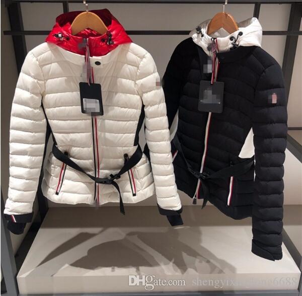 NEW 여자 야외 스포츠 다운 자켓 겨울 방수 하얀 오리 다운 재킷 따뜻한 후드 짧은 재킷은 다운 코트를 따뜻하게