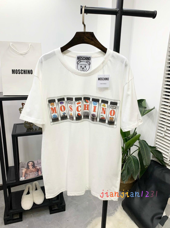 2020 printemps et les hommes et les femmes d'été avec les mêmes femmes T-shirt à manches courtes en coton imprimé modèle de machine de jeu lâche talonnage shirt22