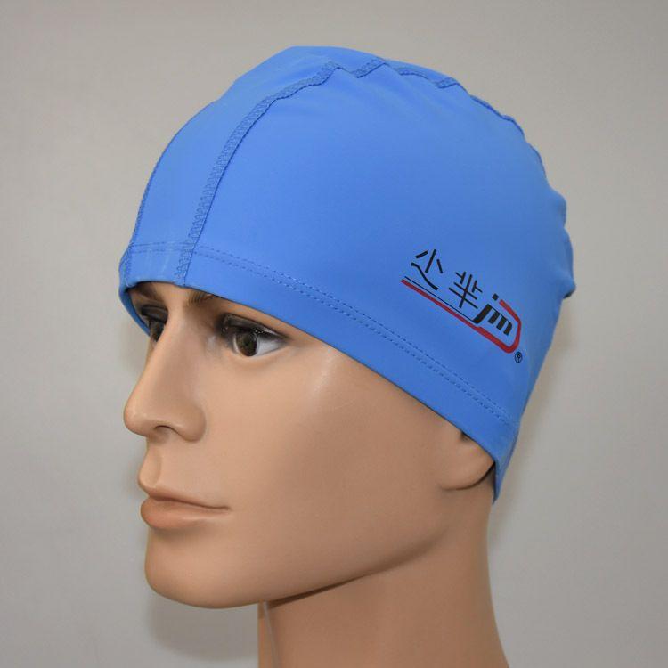 New adulto impermeável PU touca de natação atacado chapéu de pano para homens e mulheres Preto de prata azul e rosa