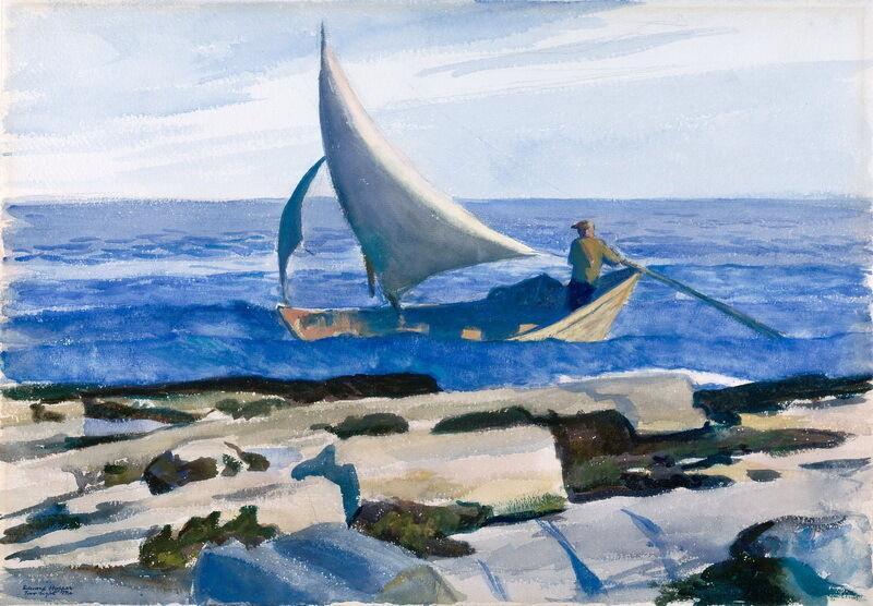 Edward Hopper Le Dory Home Décor peint à la main HD Imprimer Peinture à l'huile sur toile mur toile Photos 200208