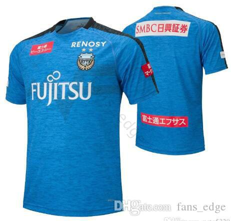 19 20 Japan J League Kawasaki Frontale Soccer Jersey Edigar Junio Junior Jun Amano Yu Kobayashi Damiao Custom Home Blue Football Shirt