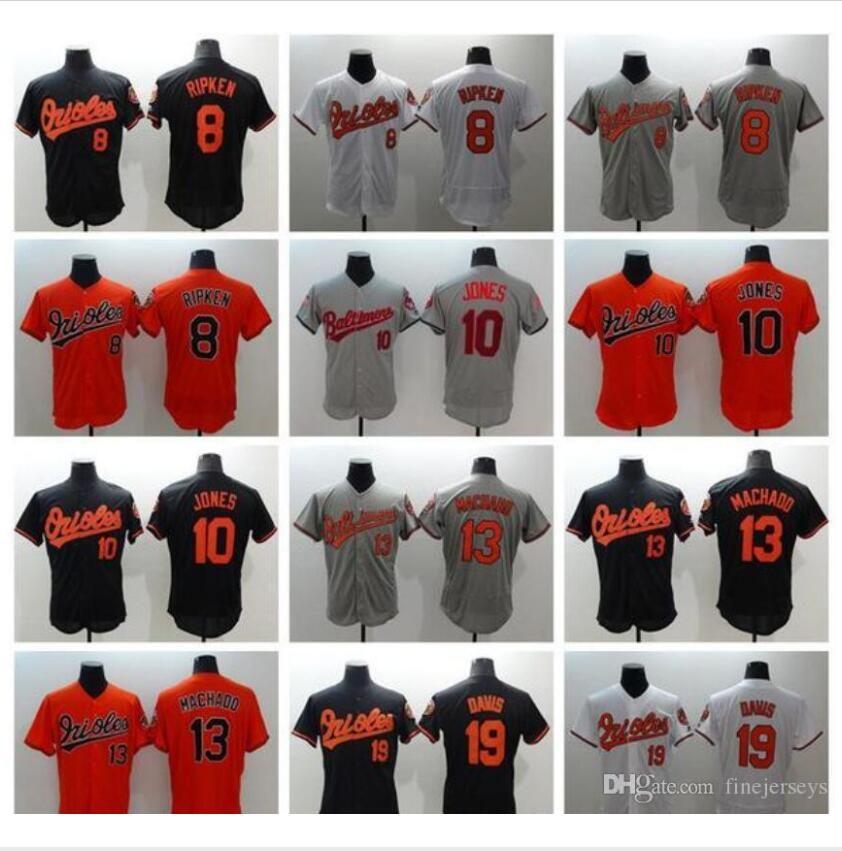 Custom Men Women Kids Stitched 8 Cal Ripken Jr 10 Adam Jones 13 Manny Machado orioles Baseball Jerseys fine