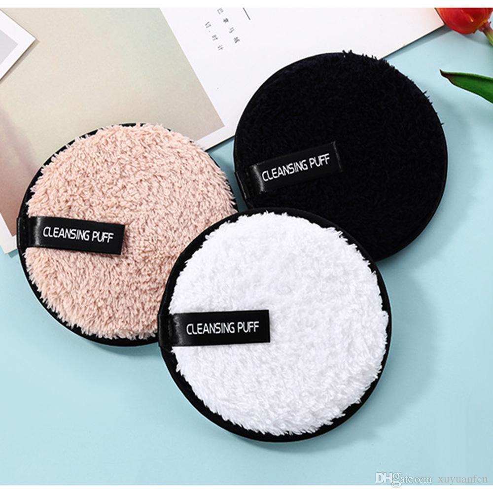 1 UNID Suave Microfibra Removedor de Maquillaje Toalla Limpiador Facial Puff de Felpa Reutilizable Almohadillas de Paño de Fundación Fundación Cuidado de la Piel Herramientas