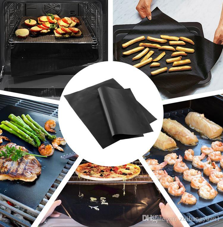 BBQ Grill Mat Gold Black Copper Hot Plate Portable Easy Clean Outdoor Grill Mat for Microwave Oven Outdoor BBQ Accessories