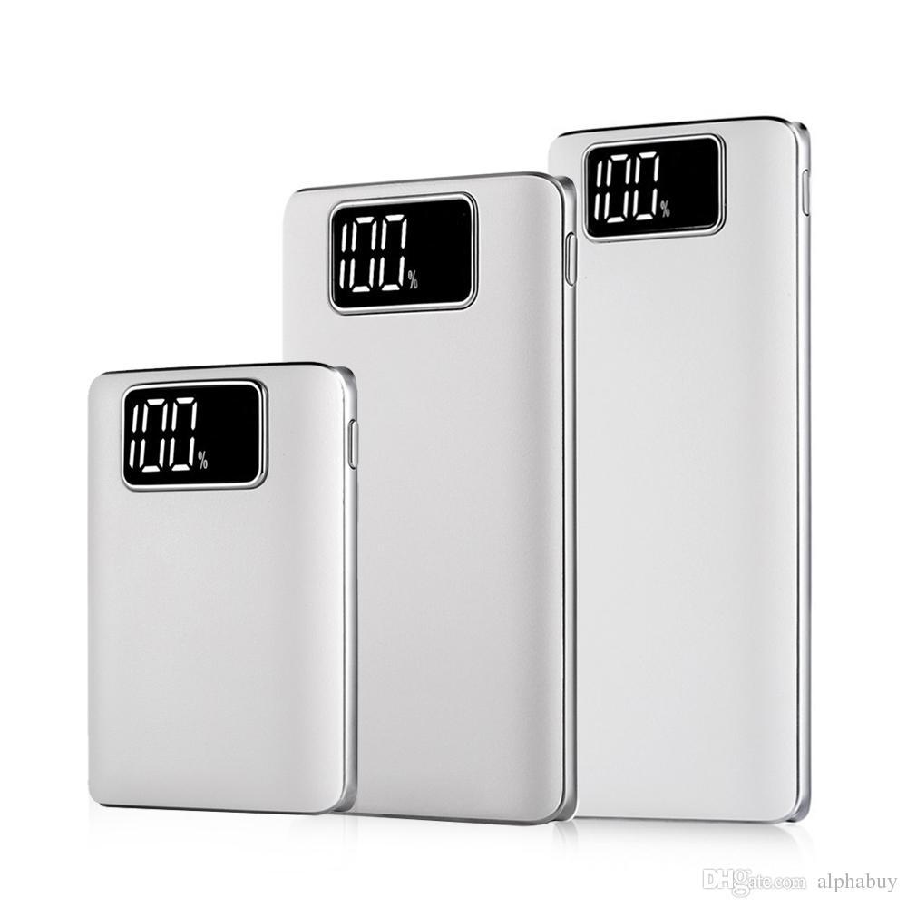 Chargeur de batterie de secours universel externe portable de secours de secours de batterie de téléphone portable universel de banque de chargeur externe 7500mah 10000mah