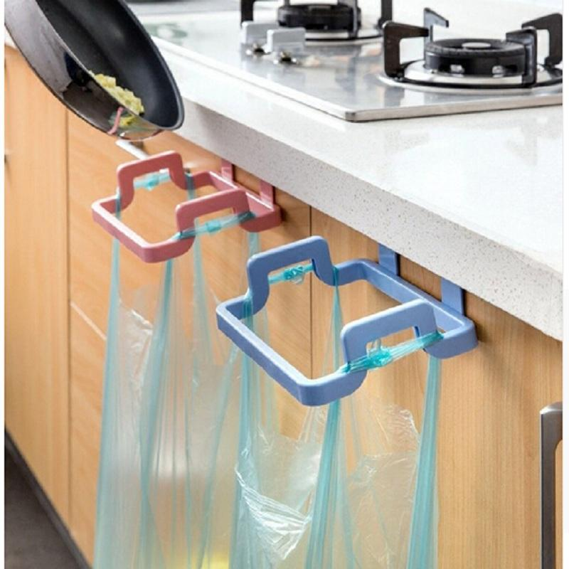 Portable Kitchen Trash Bag Holder Incognito Cabinets Cloth Rack Towel Rack Kitchen Accessories Tools Cozinha
