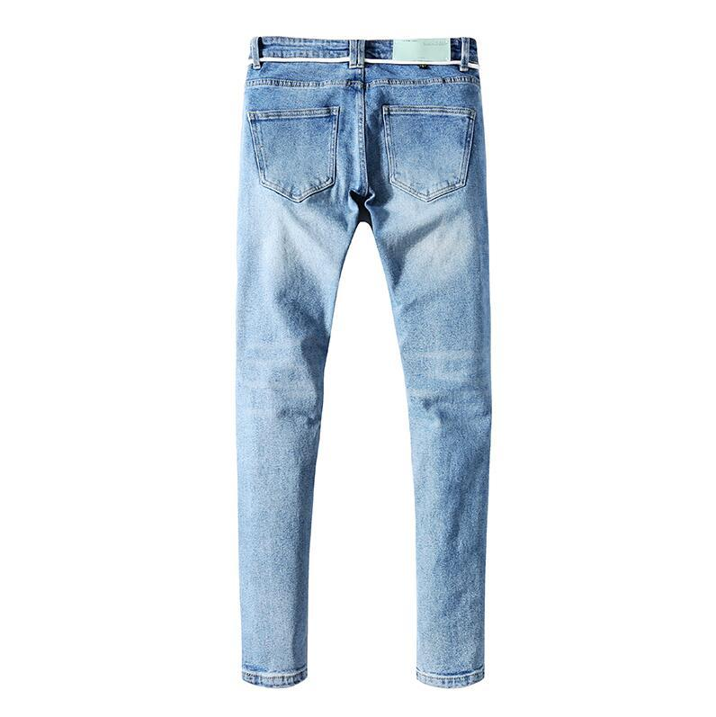 Wholesale New Mens Designer jeans Brand Mens Motorcycle Street Fashion Hip Hop High Quality jeans Size 28-40