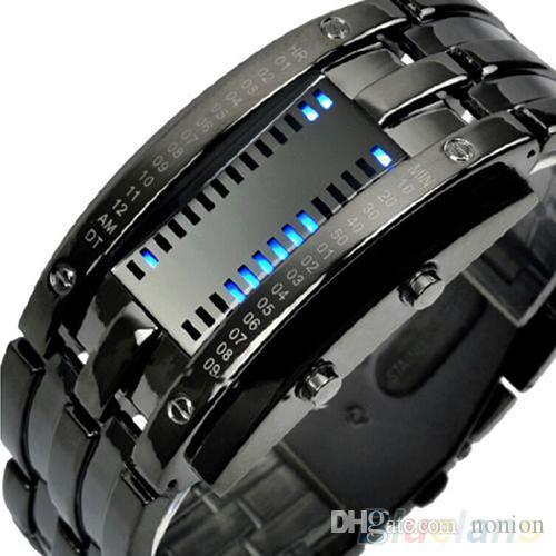 Männer Frauen Luxus Alloy Band Datum Digital LED Uhr Elektronik Armbanduhr Armband Sport Armbanduhr Uhren