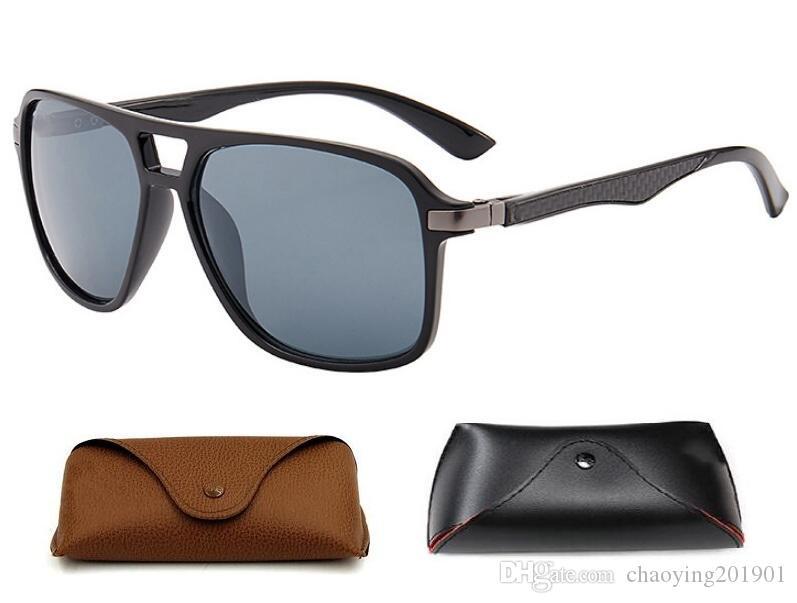 Marka tasarımcı erkek vaka ve kutu ile Sprey boya güneş gözlüğü erkek lüks gözlük moda Retro güneş gözlüğü marka güneş gözlüğü