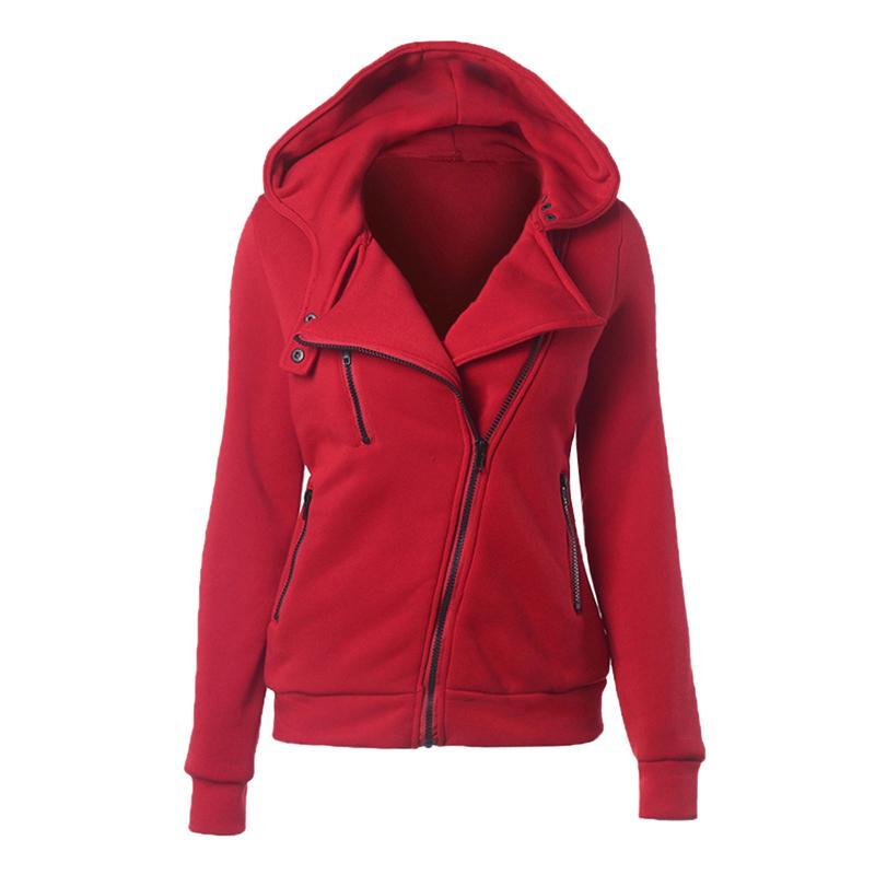 Moda Hoodies Moletons Mulheres manga comprida jaquetas com capuz Zipper Jumper Overcoat Outwear Harajuku Feminino Moletons Y200608