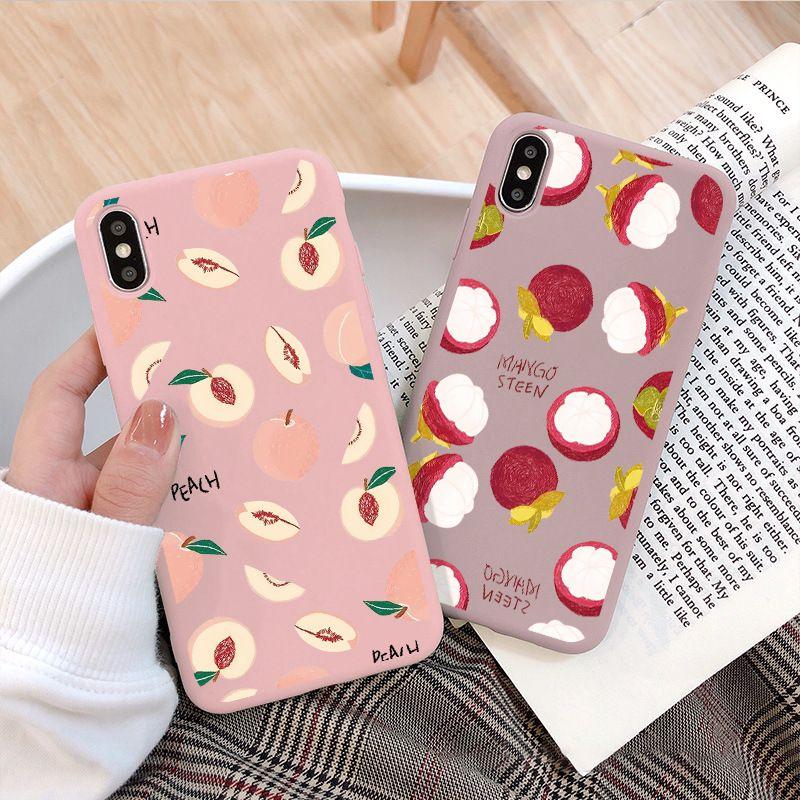 Convient pour iPhone 11 Pro Max X 6 7 8 Plus Mobile Phone Housse de protection d'été avocat Fruit iphone 11Pro Creative TPU Designer Phone Case