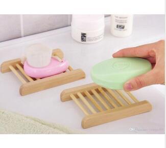 Storage Wood Shower Sponge Shelf Container Bathroom Soap Dish Home Holder Deco