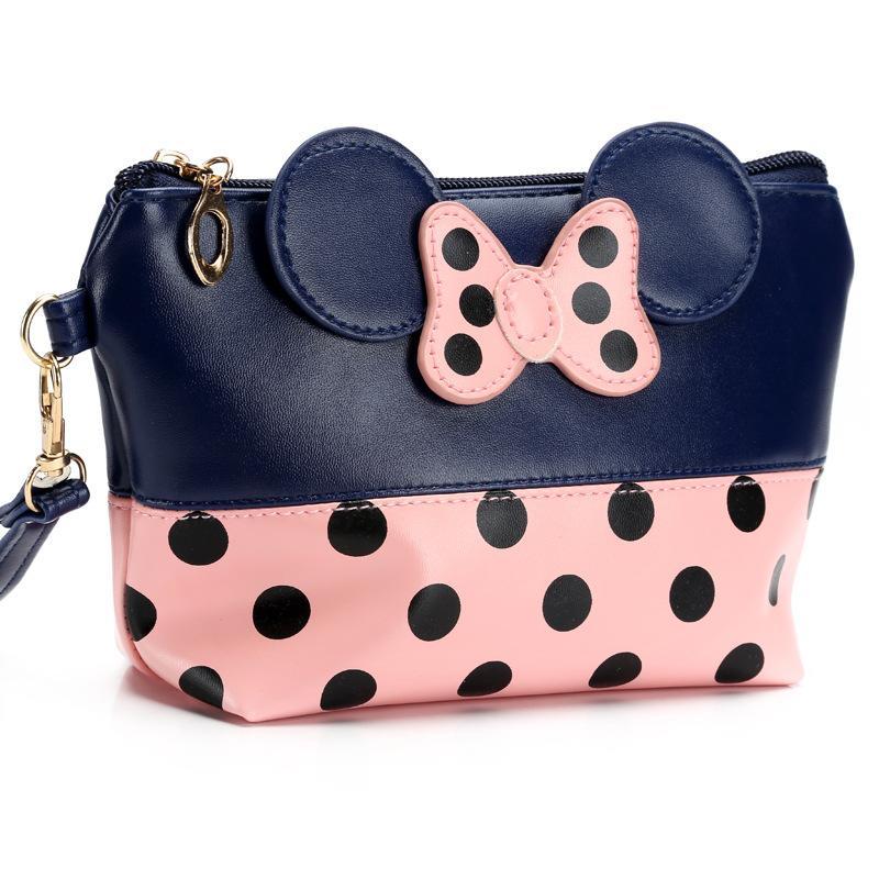 디자이너 - 핫 판매 마우스 귀여운 클러치 백 bowknot 메이크업 가방 코스메틱 구성 주최자 및 세면 용품 화장품 가방 사용