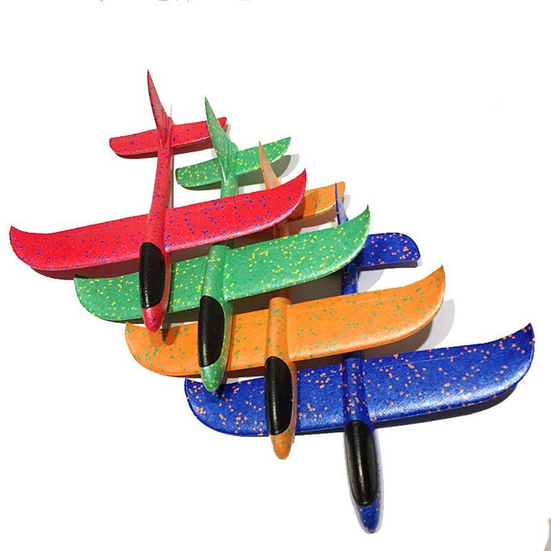 48 см ручной бросок пены самолет игрушки открытый запуск планер самолет дети подарок игрушка бесплатно летать самолет игрушки головоломки модель Jouet