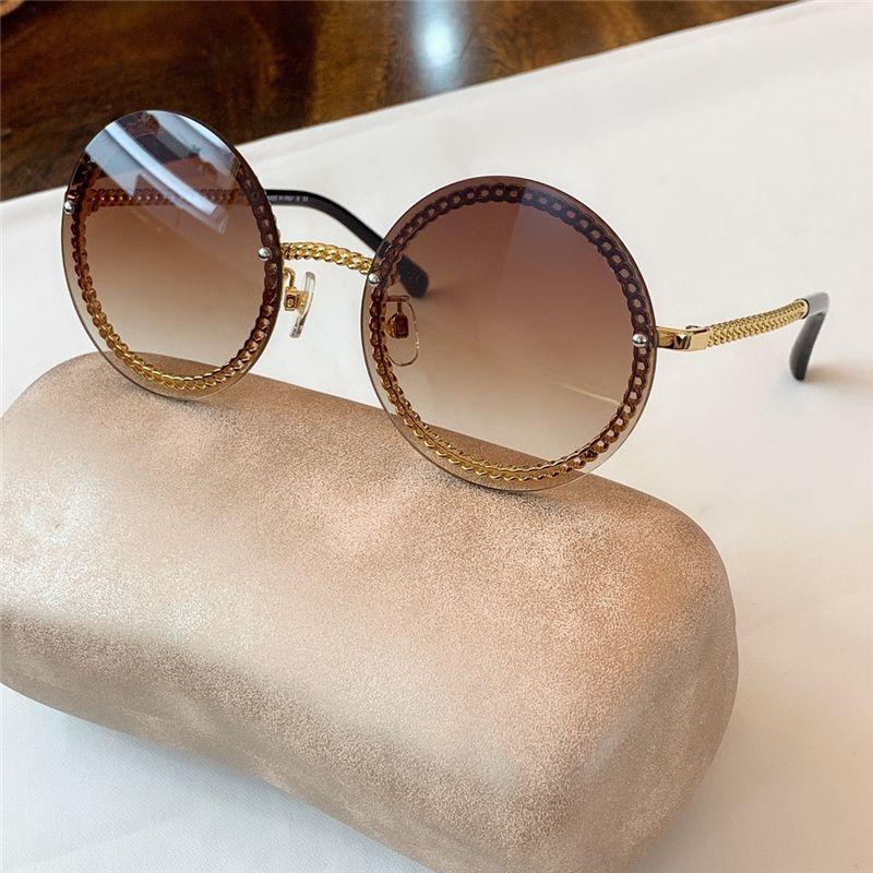 Новое высокое качество горячей продажи Матч с цепи ожерелье 4245 моды женщин Круглый стиль солнцезащитные очки УФ-защита очки с оригинальной коробке