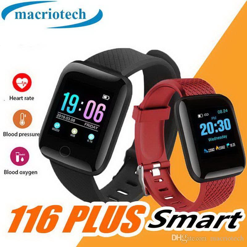 116 Blood Pressure intelligente Bracciale PLUS donne impermeabile Fitness Tracker orologio cardiofrequenzimetro intelligente delle donne della fascia Uomini