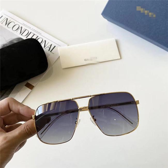 Роскошные дизайнерские женские мужские негабаритные солнцезащитные очки фирменные поляроидные линзы солнцезащитные очки металлическая эллиптическая рамка спортивные очки с коробкой-dbt