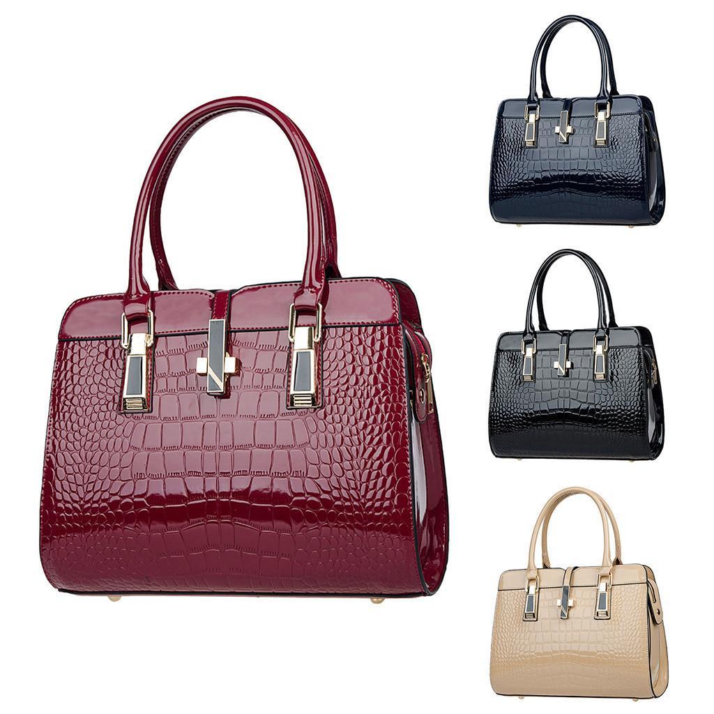 2019 New Hot Sale Women's Ladies Pattern Pure Color Fashion Leisure Handbag Portable Solid Zipper Small Fashion Brand New Y19061903