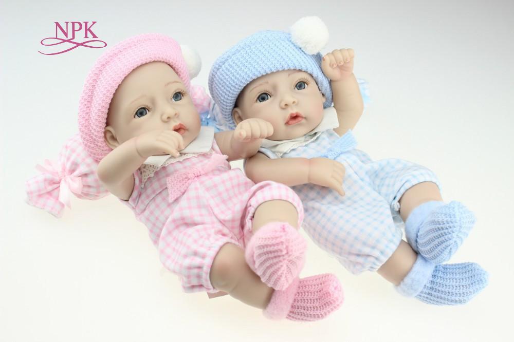 NPK DOLL Mini 12 Inch Soft Fully Body Silicone Reborn Dolls Sleeping Newborn Babies Bebes Reborn Realista Doll For Gift Bath Toy Y200111