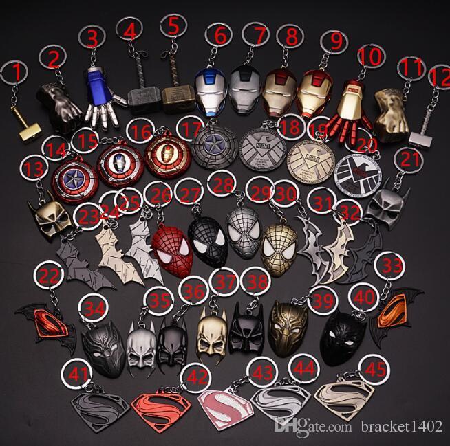 Avenger ittifak kolye Demir Adam Maske Amerikan kaptan, araba anime Anahtarlık küçük hediye toptan