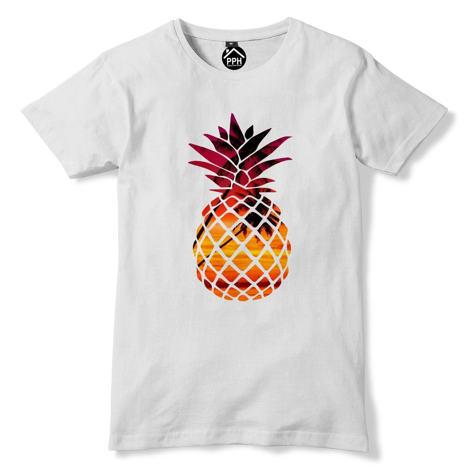 77cdcbfff7ba Tropical Pineapple Fruit Tshirt Mens Womens t Shirt Exotic Summer Palm tree  98 Tees Custom Jersey t shirt