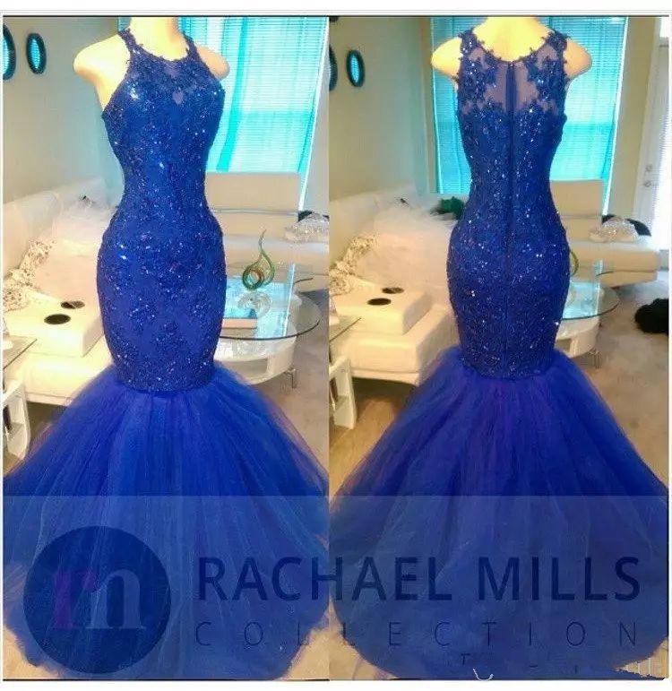 Sheer O-Neck Slim Mermaid 레이스 Appiques Dress Dress 2020 민소매 정장 여성 Maxi Evening Party 가운 African Style 가운