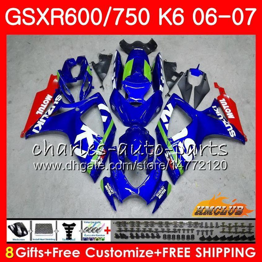 Suzuki GSX R600 GSX R750 GSXR600 2006 2007 8HC.91 GSX-R600 GSXR-750 K6 GSXR 600 750 06-07 GSXR750 06 07フェアリング新品キット