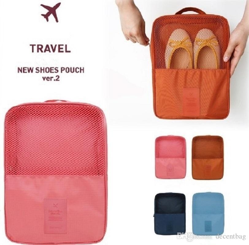 Bolso organizador de zapatos a prueba de agua para 3 pares de zapatos Nylon Thicken Double Layer Nueva llegada para viajes al aire libre Viajes Envío gratuito