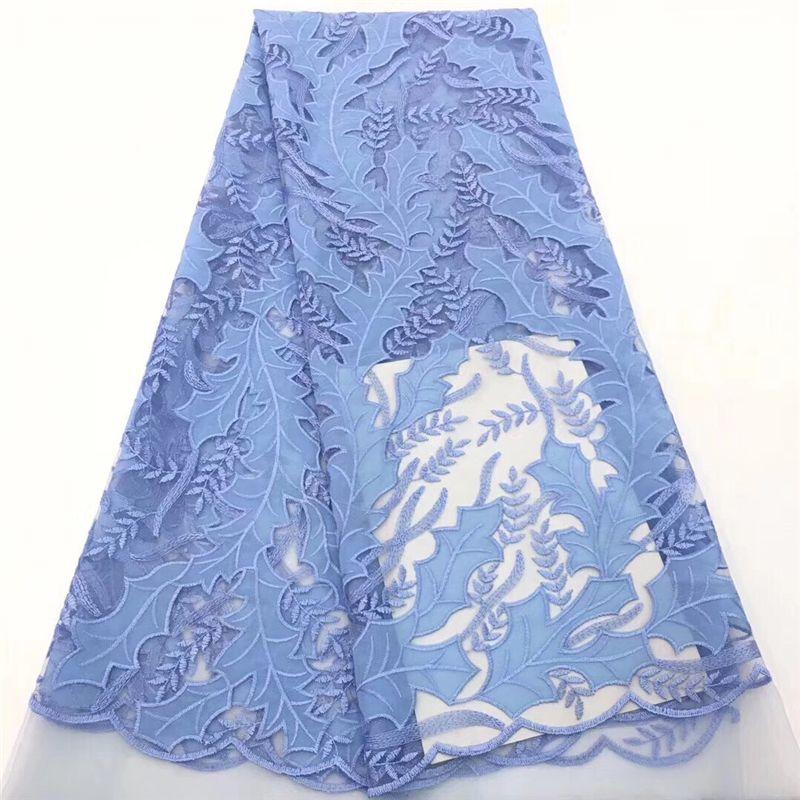 VILLIEA голубой Африканский кружевной ткани нигерийский французский ткань 2019 высокое качество Африканский французский тюль кружевной ткани мягкий дизайн