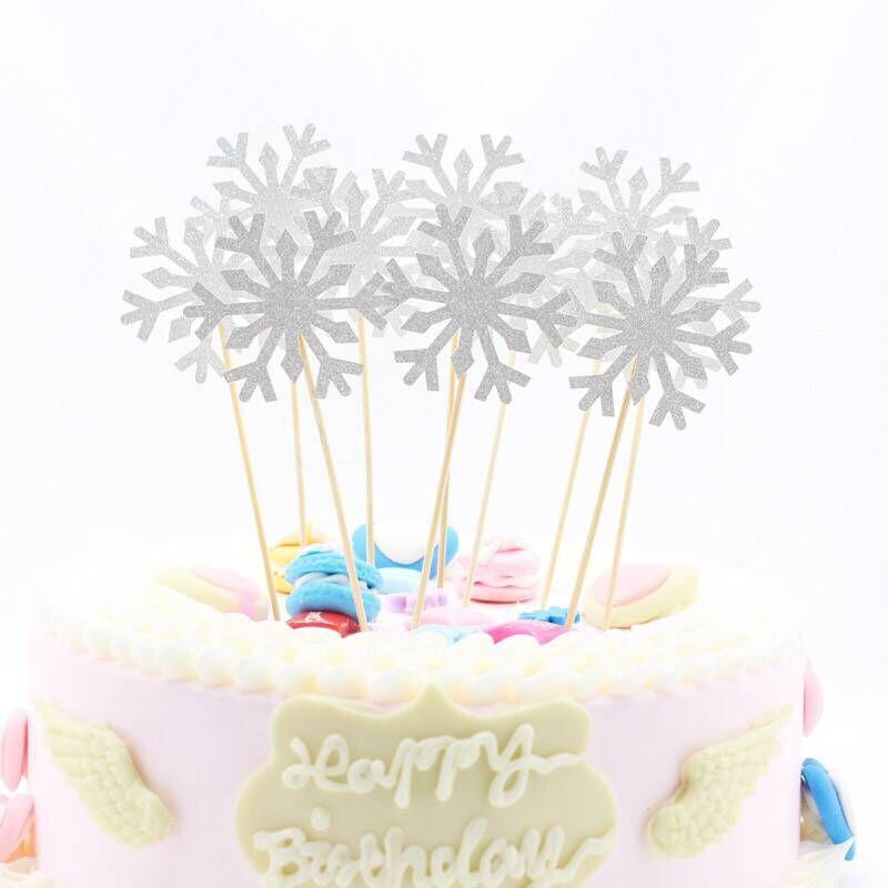 Astonishing 2020 50 Snowflake Cupcake Toppers Baby Girl Frozen Birthday Party Funny Birthday Cards Online Fluifree Goldxyz