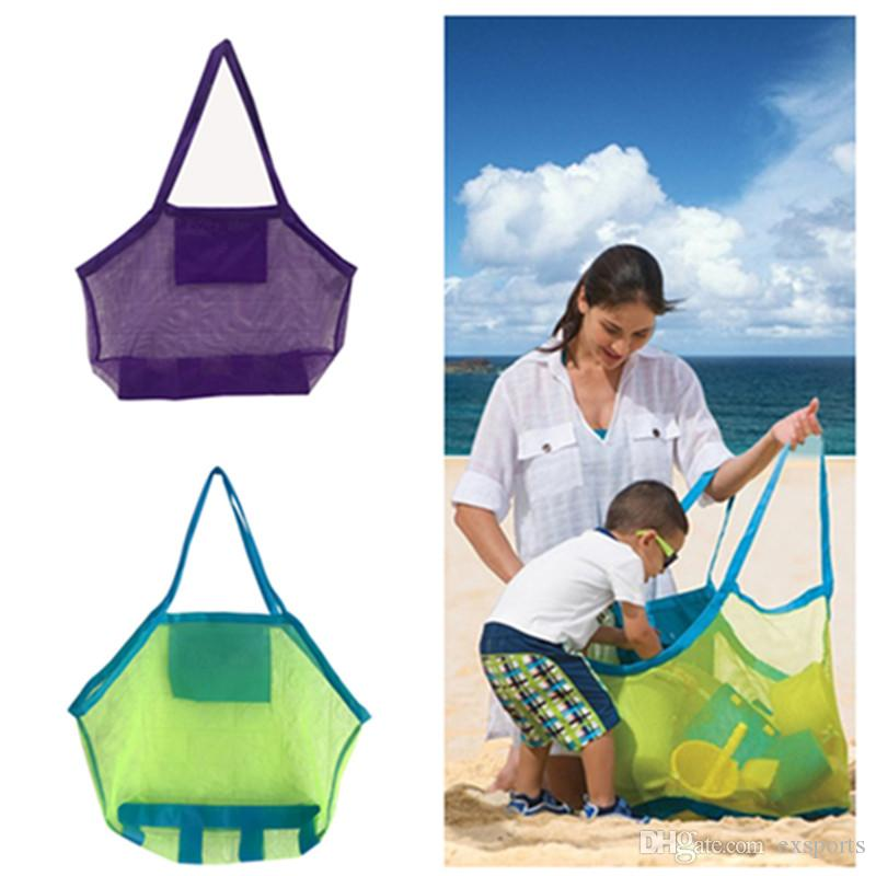Children beach bags 9 colours Tote Bag Kids Toys Towels Shell Collect Storage Bags fold shopping handbags free FEDEX TNT