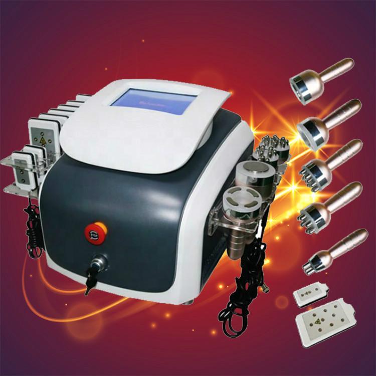 Portatile Vacuum liposuzione macchina dimagrante Lipo Laser 40K cavitazione RF Radio Frequenza ultrasonica corpo dimagrante apparecchiature trasporto veloce