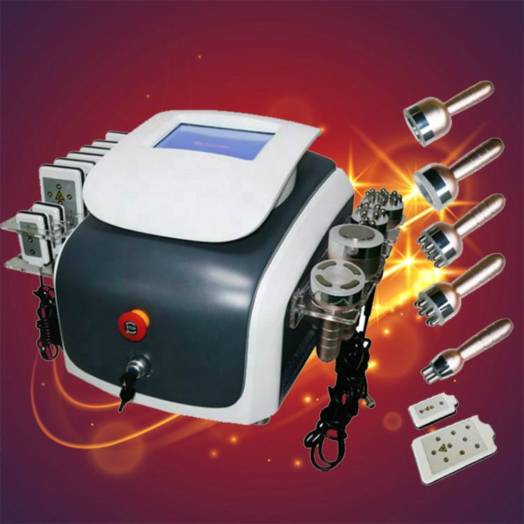 La liposucción vacío portátil adelgaza la máquina láser Lipo 40K La cavitación ultrasónica RF Radio Frecuencia cuerpo Equipo adelgaza el envío rápido