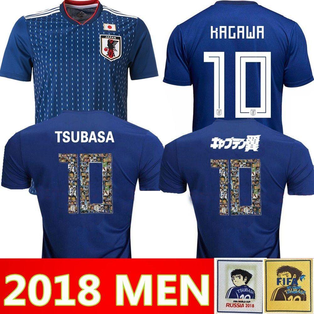 2018 japan TSUBASA 버전 축구 유니폼 일본 월드컵 ATOM 18 19 일본어 홈 KAGAWA ENDO OKAZAKI NAGATOMO KAMAMOTO 축구 셔츠