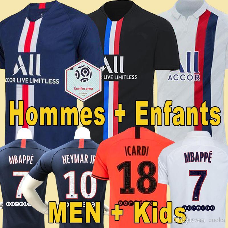 Paris Saint Germain Histoire, T shirt pour hommes 20192020