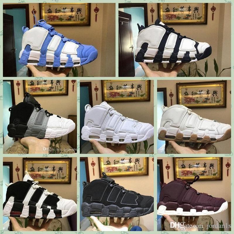Nike Air More Uptempo 2019 Hot new More Uptempo Zapatillas de baloncesto para hombre Para mujer Hombre QS Olympic Varsity Maroon Black Scottie Designer Sneakers Size36-46
