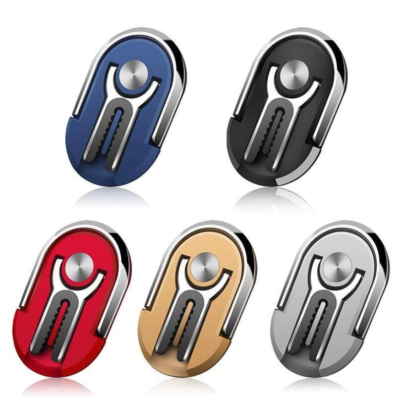 Автомобильный держатель Air Vent ручки Многофункциональный 2 в 1 держатель мобильного телефона 360 градусов вращения Стенд Вращающийся магнитный палец кольцо держатель телефона планкой