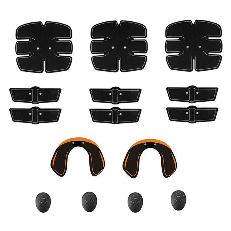 15pcs / set de Ultimate Abs estimulador muscular engrenagem de treinamento Hip instrutor Fit corpo inteiro com 6 Modos